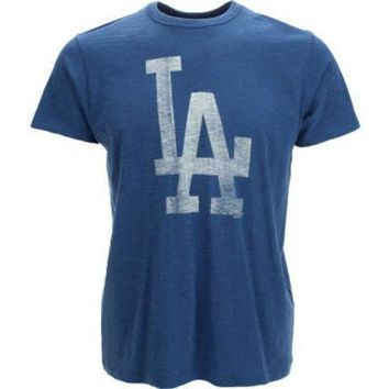 ONETOW MLB Los Angeles Dodgers '47 Brand Men's Scrum Logo T-Shirt