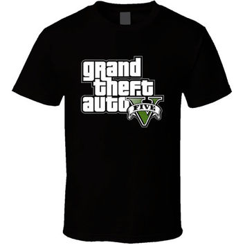 Grand Theft Auto 5 Gta Logo Black T Shirt