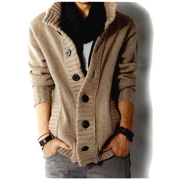 2017 New Brand Men's Sweaters Open Stitch Slim Fit Cardigan Men Casual Thicken Clothing Cardigan Slim Male Cashmere sweater