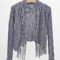 Flying Tomato Open Weave Cardigan Sweater