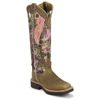 Justin Women's Rugged Camo Snake Boot Square Toe