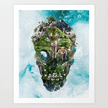 Skull Nature III Art Print by RIZA PEKER