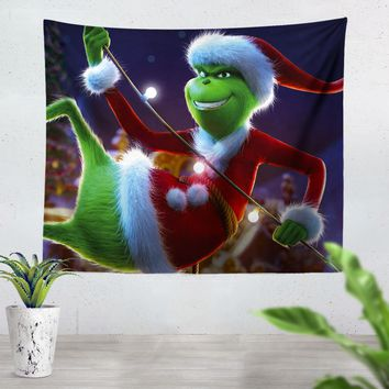 The Grinch Smile Tapestry
