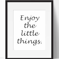 Enjoy The Little Things Wall Art (Frame Not Included)