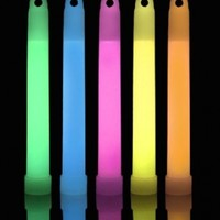 "25 Lumistick 6"" Premium 15mm Industrial Grade Glowsticks - Assorted Colors"