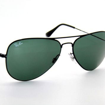 RAY BAN sunglasses 3513 DEMI GLOS BLACK/DARK GREEN 153/71 AVIATORS RAYBAN
