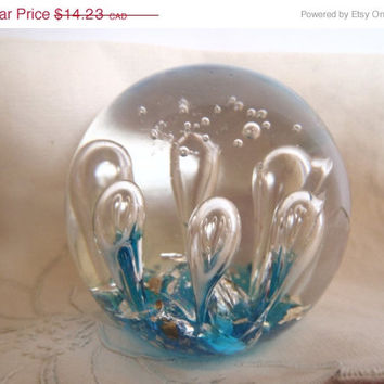 On Sale - 20% PaperWeight Art Blown Glass Murano Bubble Glass Collectibles