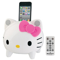 Hello Kitty Stereo Speaker System with Built-in iPhone/iPod Docking Station | Meijer.com