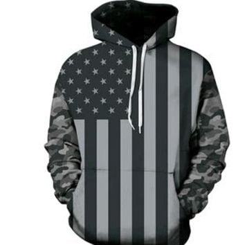 New Fashion Men Women Hoodies Anime Super 3D Hoodie Outerwear American flag Galaxy Hooded