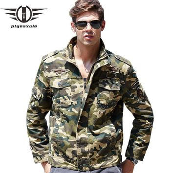 Camouflage Jackets Men Air Force One Military Style Jacket Luxury Bomber Pilot Flight Jacket
