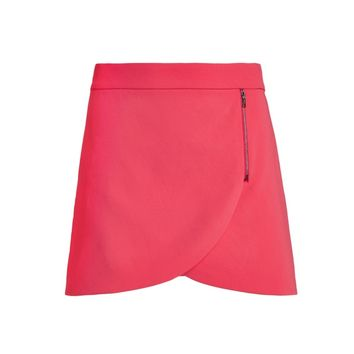 Lennon Side Zip Overlap Mini Skirt | Alice + Olivia