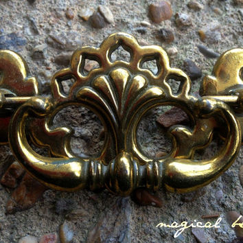 Drop Pull, Victorian Vintage Brass for Furniture/ Gold Brass Hardware/ Dresser Pulls & Dresser Knobs