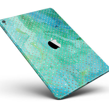 "Green and Gold Watercolor Polka Dots Full Body Skin for the iPad Pro (12.9"" or 9.7"" available)"