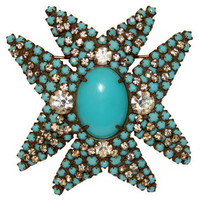 Kenneth Lane Brooch, K.J.L., Large Maltese Cross, Signed, Rare, Collectible, Early 1960s