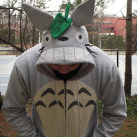 "TOTORO - Hoodie for Adults - Inspired by the Studio Ghibli movie ""My Neighbor Totoro"""