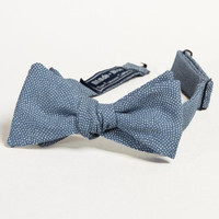 Prussian Blue Japanese Wave Print Bow Tie