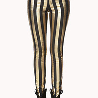 Glam Girl Striped Skinny Jeans