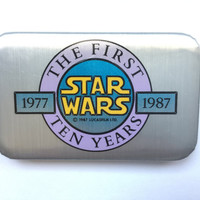 1987 Star Wars Button! First 10 Years! Anniversary! RARE Members Only! Good Condition! RARE Pin! R2-D2 C-3P0! Jedi! Vintage Retro Great Gift
