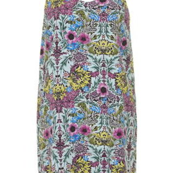 Tropical Floral Print Slip Dress - Multi