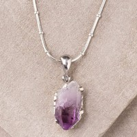 Amethyst Pendant Necklace - One Of A Kind
