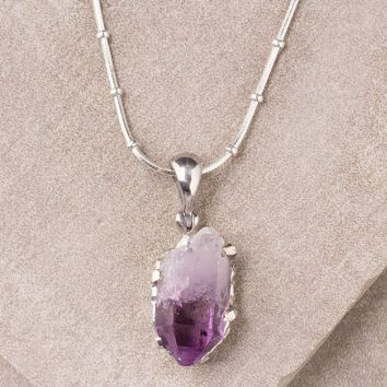 Amethyst Pendant Necklace - One Of A Kind - Discontinued