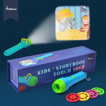 Kids Story Book Mini Projector Torch
