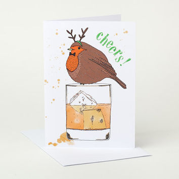 Jolly Robin Christmas Card