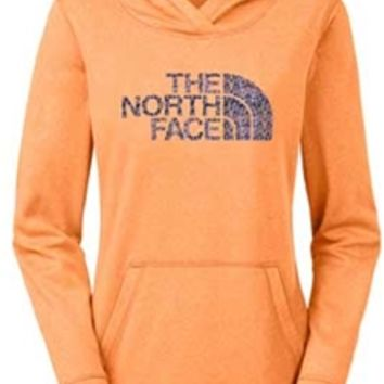 Gliks - The North Face Rapidity Fave Pullover Hoodie for Women in Impact Orange Heather