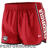 Nike Georgia Bulldogs Womens Chainmaille Pacer Performance Shorts - Red