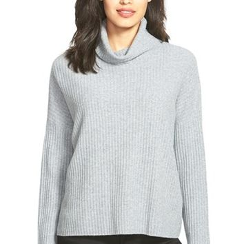 Women's Eileen Fisher Boxy Cashmere Turtleneck Sweater,