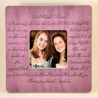 Best Friend Picture Frame Custom Personalized