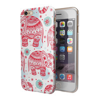 Sacred Red Elephant and Polkadots 2-Piece Hybrid INK-Fuzed Case for the iPhone 6/6s or 6/6s Plus