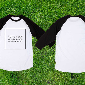 Limited Yung Lean unknown death 2002 Baseball T shirt, Raglan T shirt, Unisex T shirt, Adult T shirt