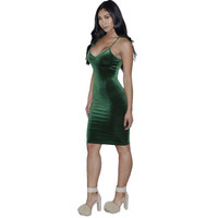 Velvet Dress Women  New Fashion Sexy Bodycon V Neck Sleeveless Solid Evening Party Mini Dresses Ladies vestidos #1206 SM6