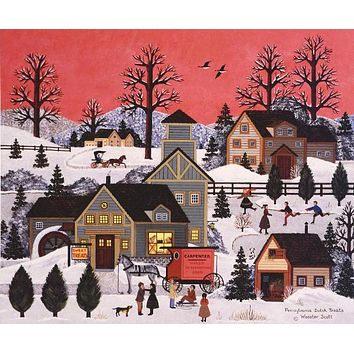 Pennsylvania Dutch Treats - Limited Edition Lithograph on Paper by Jane Wooster Scott