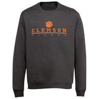 Clemson Tigers Block V-Notch Sweatshirt - Charcoal