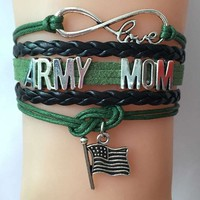 Army Family - Mom/Sister/Grandma/Girl Friend/Aunt Charm Bracelet