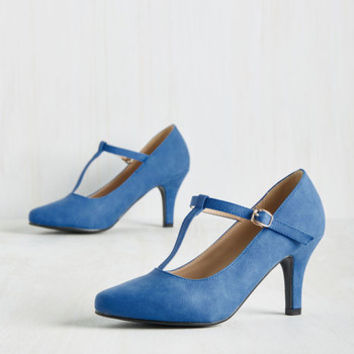 Reveal Your Forces Heel in Sky | Mod Retro Vintage Heels | ModCloth.com