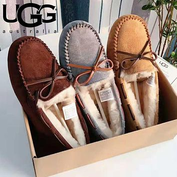 """UGG"" Winter Hot Sale Fashion Women Warm Wool Flat Shoes"