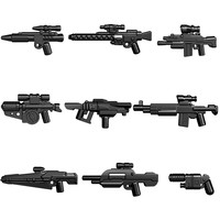 Guns Trek Halo Star Wars Science Fiction Future Weapons Pack for MOC Part Building Blocks Toys