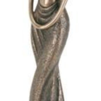 Maasai African Female Standing Abstract Statue 12.5H