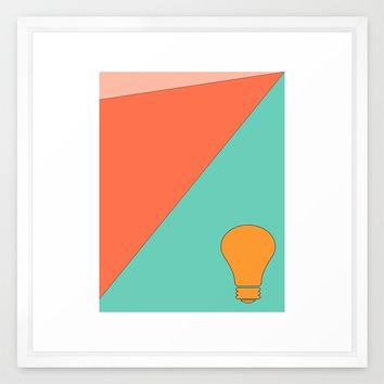 Golden Idea Framed Art Print by Ducky B
