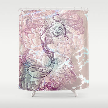 koi fish Shower Curtain by printapix