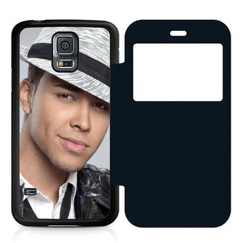 Prince Royce Hat Leather Wallet Flip Case Samsung Galaxy S5