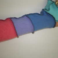 CASHMERE armwarmers fingerless gloves 13 inch mid tones