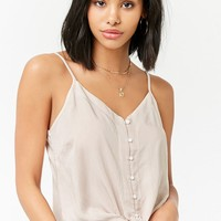 Striped Tie-Front Cami Top