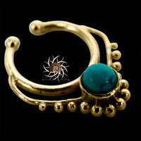 Fake Septum Ring - Faux Septum Ring - Fake Piercing - Clip On Piercing - Clip On Septum - Septum Jewelry - Septum Cuff - Nose Jewelry SF33B