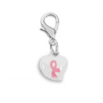 Pink Ribbon Breast Cancer Charms