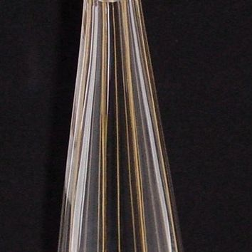 999692 Crystal Decanter W/9 Cut Flat Sides, Gold Lines Along Edges