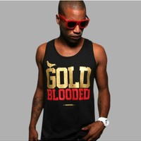 Gold Blooded Black Tank Top